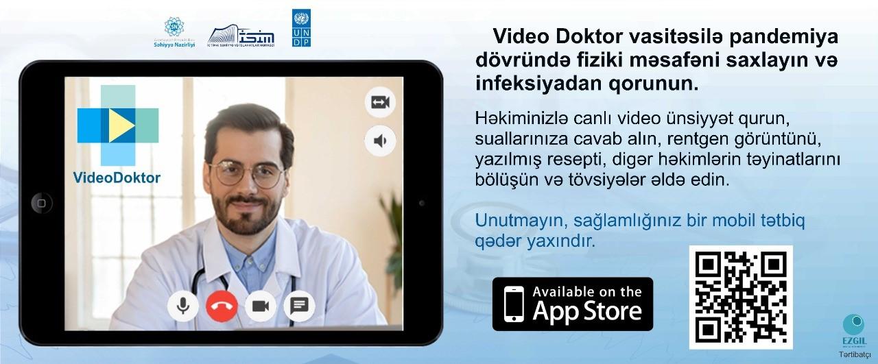 """Səhiyyə Nazirliyi yeni """"Video Doktor"""" adlı mobil tətbiqi istifadəyə verib"""