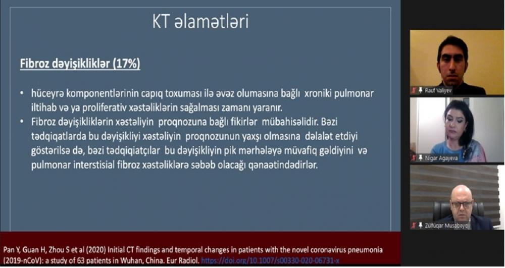 """""""COVID-19-la mübarizədə birlikdə güclüyük"""" vebinarı keçirilib"""