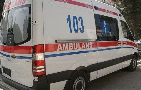 İçərisində xəstə olan ambulans qəzaya düşdü
