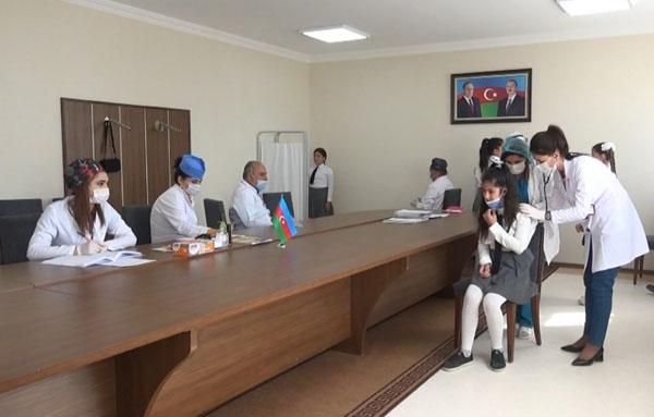 Şərur Rayon Uşaq Xəstəxanasında uşaqların profilaktik tibbi müayinələri aparılır