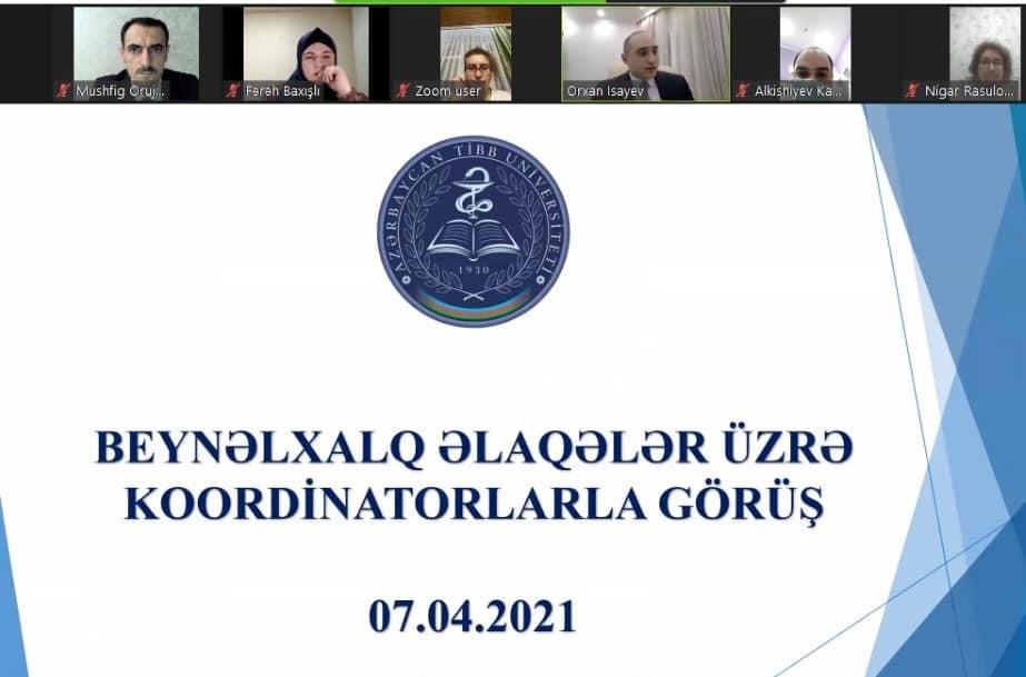 Beynəlxalq əlaqələr üzrə koordinatorların ilk toplantısı keçirilib - ATU