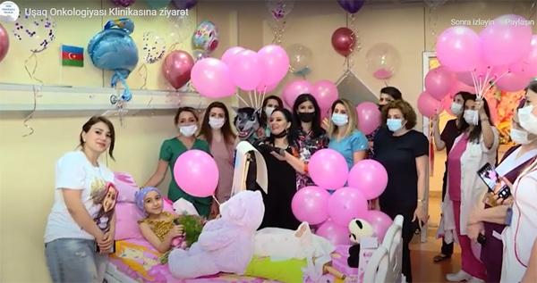 Uşaq Onkologiyası Klinikasında müalicə alan uşaqlar ziyarətolunub