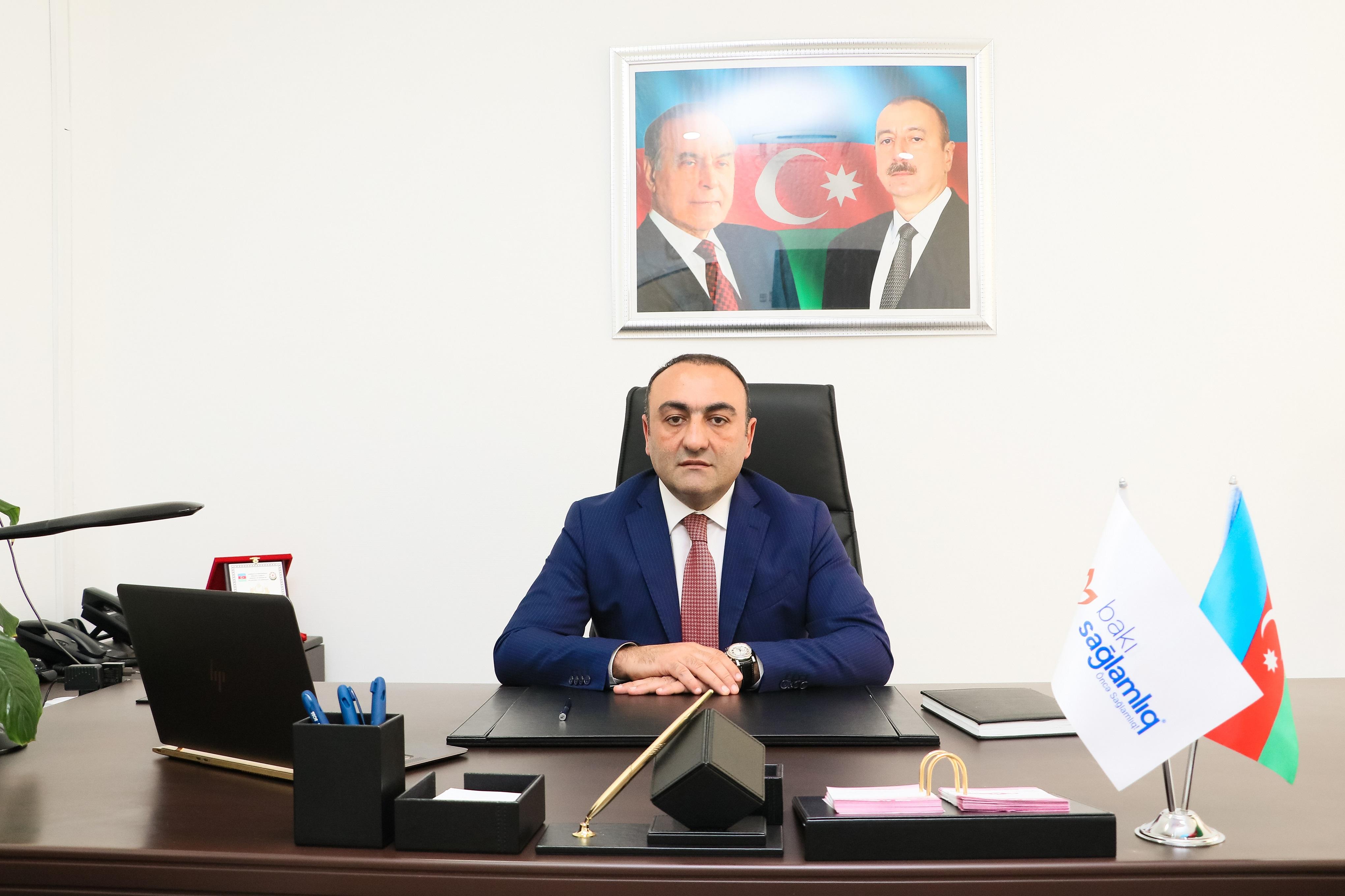 """Bakı Sağlamlıq Mərkəzininicraçı direktoru """"Tərəqqi"""" medalına layiq görüb"""