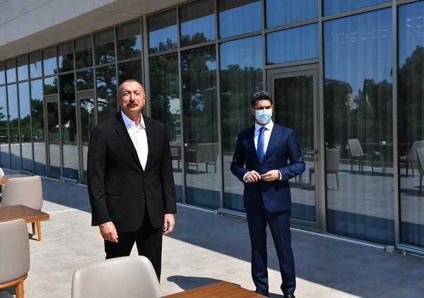 Prezident Naftalan Mərkəzi Sanatoriyasının açılışında iştirak edib